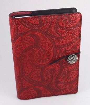 Oberon Design Paisley Large Leather Journal JLM53 Made in USA New
