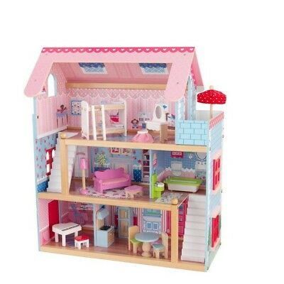 Dollhouse Doll House Cottage Play Set Playset Kids Toys Girl Toy Dolls Furniture