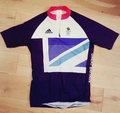 Adidas Great Britain TEAM GB 2012 OLYMPICS cycling jersey shirt top size L LARGE
