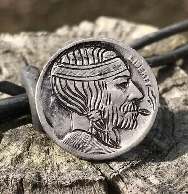 Willie Nelson Hand Carved Real Hobo Nickel Art Coin