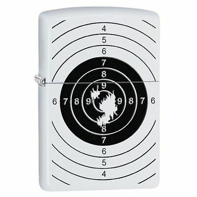"Zippo ""Shooting Target"" White Matte Finish Lighter, 29390"