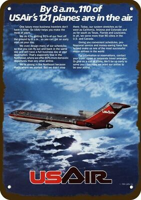 1984 US AIR AIRLINES Vintage Look Replica Metal Sign - USAIR JETS ARE IN THE AIR