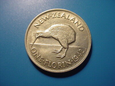 New Zealand - Silver - 1942 Florin In Excellent Condition