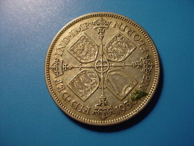 British - Silver - 1936 Florin In Very Nice Condition