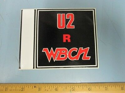 WBCN Boston Vintage U2 R WBCN Promotional Sticker New Old Stock Flawless