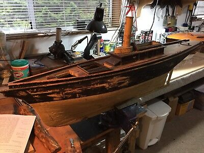 Antique Steam Yacht Model (Free Shipping for Canada & USA only)