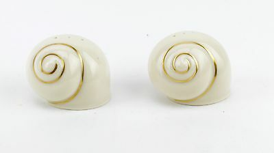 Lenox Snail Gold Trim Salt & Pepper Shakers
