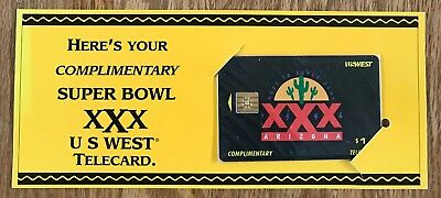 1996 Super Bowl XXX never used, never opened