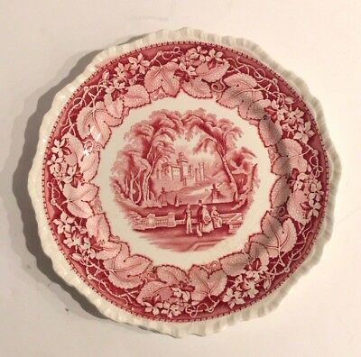 Vintage Mason's Vista  Red Ironstone Dinner Plate 10""