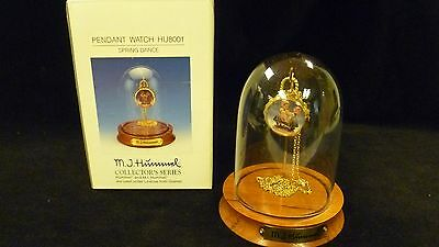 23k plated Pendant Watch by M.J. Hummel collector's series with display case