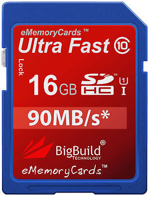 16GB Memory card for Vivitar DVR908M Camcorder | Class 10 45MB/s SD SDHC New UK