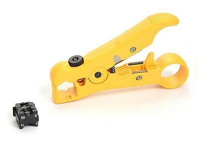 Yellow Universal Cable Wire Jacket Coaxial Stripper Cable Cutter Stripping Tool