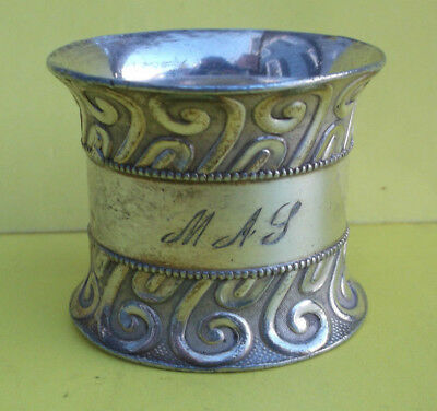 Vintage Victorian Silverplate Napkin Ring -  Design  - ESTATE COLLECTION