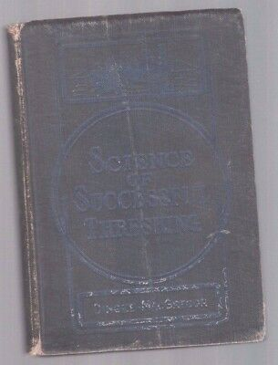 Rare 1911 Case Steam Engine Threshing Machine Science Of Successful Threshing