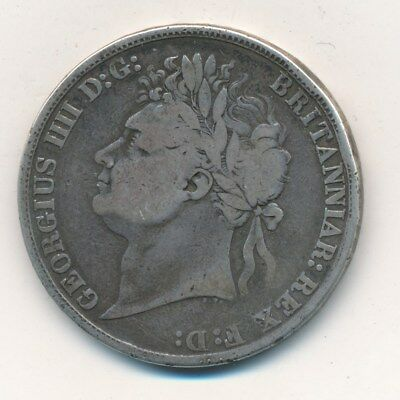 1822 Silver Great Britain Crown-Nice Circulated Silver British Coin-Ships Free!