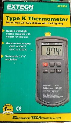 Handheld Digital Thermometer 421501 Extech type K Input Thermocouple