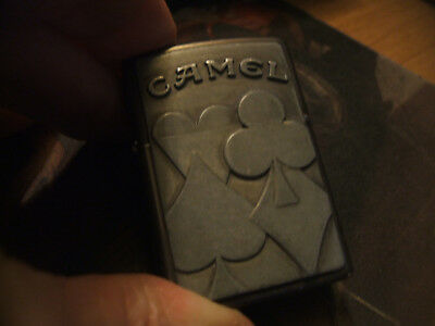 Attached Heavy Plate 3D Camel Card Suites Zippo Lighter