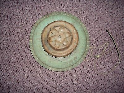 Vintage Brass Copper Antique Item With Electric Motor