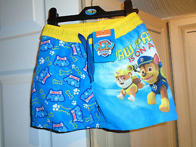 boys new with tags swim shorts PAW PATROL; age 18/24 months