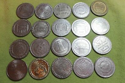 20- Casino Tokens-All Different $1.00 Tokens
