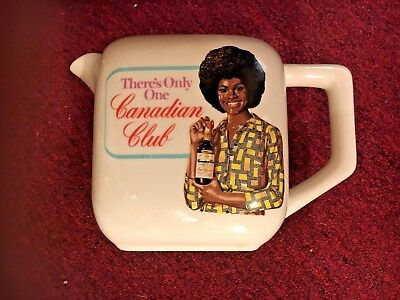 Collectable 1960's-70's Canadian Club ceramic pitcher African American girl afro