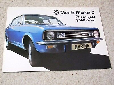 1976 Morris Marina 2 (Uk) Sales Brochure..