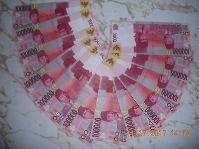 15 Pcs 100,000 Indonesia Rupiah 12 Uncirculated 3 Circulated Banknote Currency