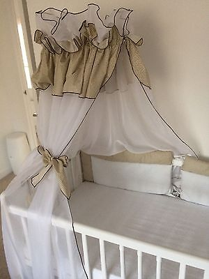 Baby Cot Bed Canopy + Canopy Holder