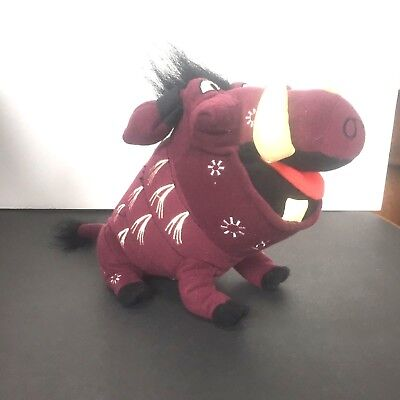 "Disney's The Lion King Broadway The Musical Plush Beanie Pumbaa 7"" New with Tags"