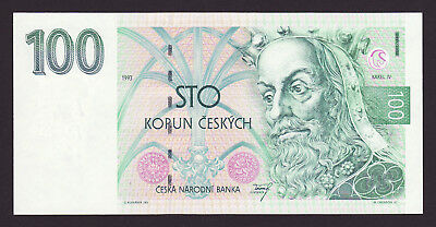 CZECH REPUBLIC  -  100 korun,1993  -  first issue  -  P 5a  -  UNC