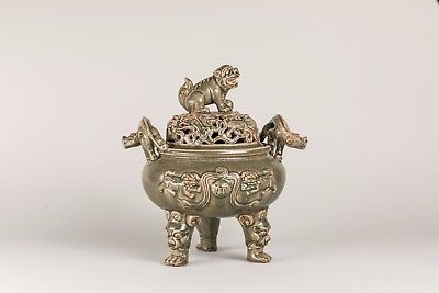 Ming Style Chinese Antique Celadon Censer