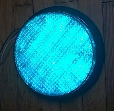 """8"""" GE LED Traffic Signal Light Green Christmas Decoration Boat Starboard 120 Vol"""
