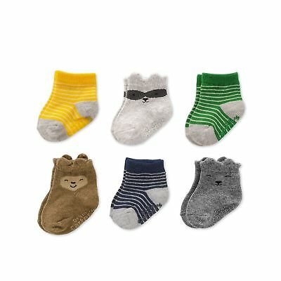 Carter's Baby Boys' Crew Socks (6 Pack) Camo/Animal 12-24 Months