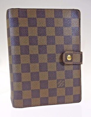 Louis Vuitton Authentic Damier Ebene Agenda MM Day (1007325-2)