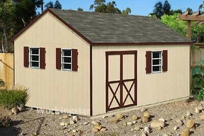 12' x 16' Gable Style Garden Storage Shed Plans / Building Blueprints # E1216