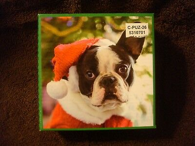 New 2017 Christmas Party French Bulldog Puzzle 100 pc.