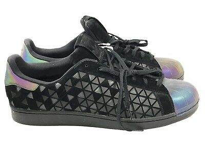 350103687 New Adidas Superstar Xeno Reflective Size 11 Men s Casual Shoes Black AQ8184