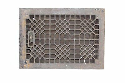 Antique Cast Iron Heat Grate Floor Vent Register Vtg Honeycomb Old 8x12
