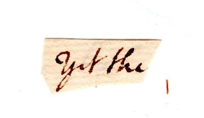 JOHN ADAMS Autograph Clip Document - 2nd U.S. President and George Washington VP