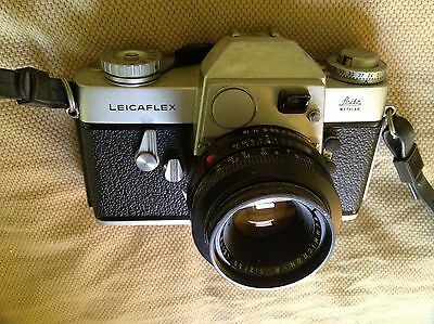 Leicaflex SLR, 1964-1968 with Summicron 50mm f2 lens and original strap