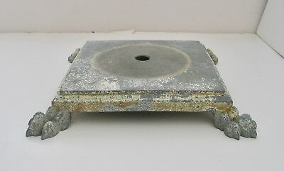 Vintage Cast Metal Floor Lamp Base Ornate Footed Steampunk Shabby Chic Victorian