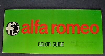 1972-1973 Alfa Romeo Paint Chip Colors Brochure 2000 Spider Veloce GT Berlina