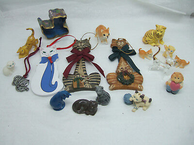 Lot Assorted Cat Collectible Figurines Figures Ornaments
