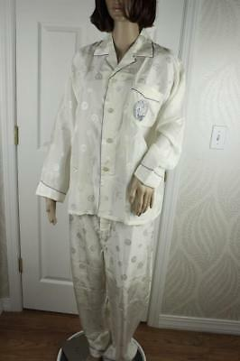 Vintage 60s Mens SILK Brocade Pajamas China Button Fly and Top Embroidery Excell