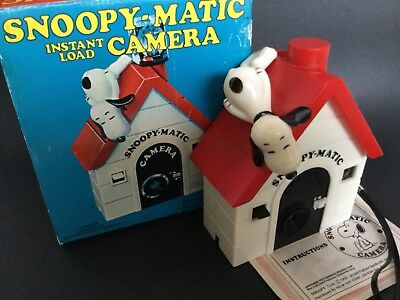 Vintage 1958 Eastman KODAK Snoopy Matic Instant Load Collectible CAMERA ~ & BOX