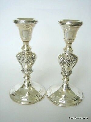 ARROWSMITH Rare Sterling Silver Art Nouveau 925 Candlesticks Weighted STUNNING!