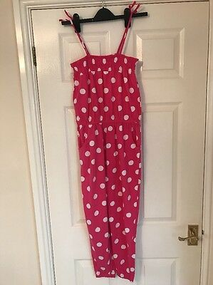 Girls Pink Jump Suit Age 10 Year From Summer Love