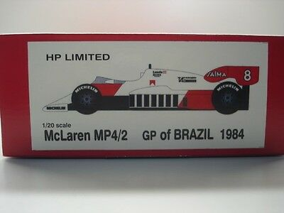 Studio 27 1:20 Scale McLaren TAG MP4/2 Brazil GP 1984 Model Kit New Prost Lauda