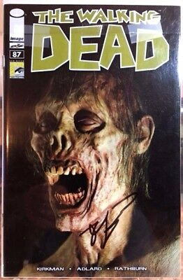 The Walking Dead #87 SDCC Convention Variant Signed by Kirkman NM+