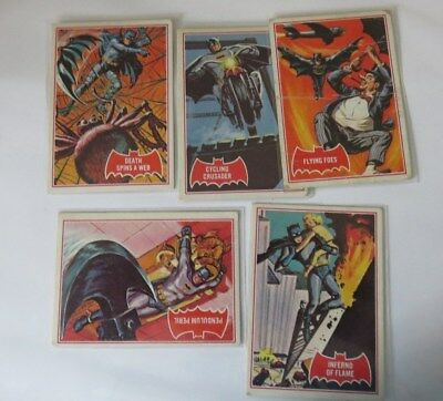 1966 Scanlens Batman Red Card Lot of 5